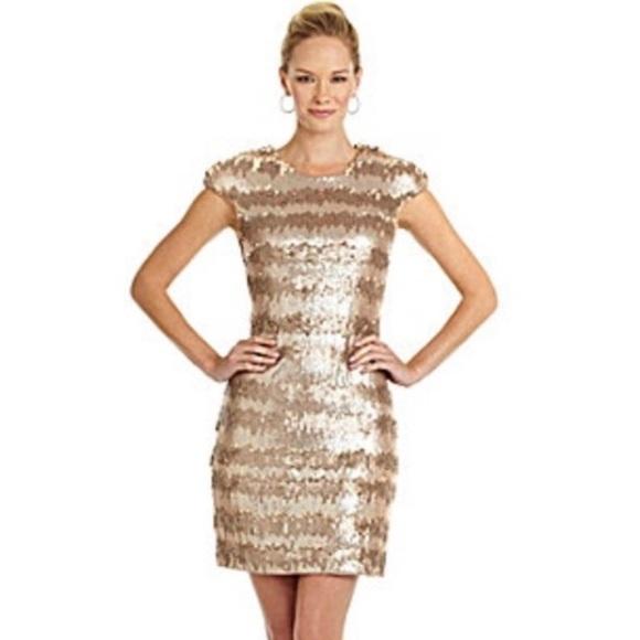 dde9c85bfe7f Vera Wang Dresses   Nwt Gold Paillette Sequin Shift Dress   Poshmark